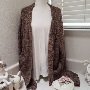 Dark brown thick cardigan
